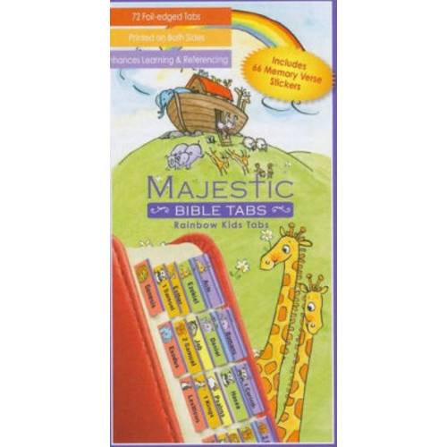 Rainbow Noah's Ark Bible Tabs with Stickers