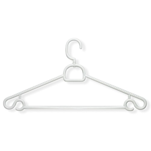 Honey-Can-Do HNGT01362 Plastic Swivel Hanger White, 30-Pack