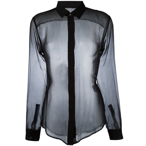 SAINT LAURENT Transparent Fitted Shirt
