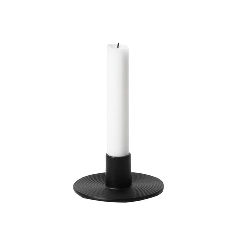 Cast Iron Candleholder in Black design by Ferm Living
