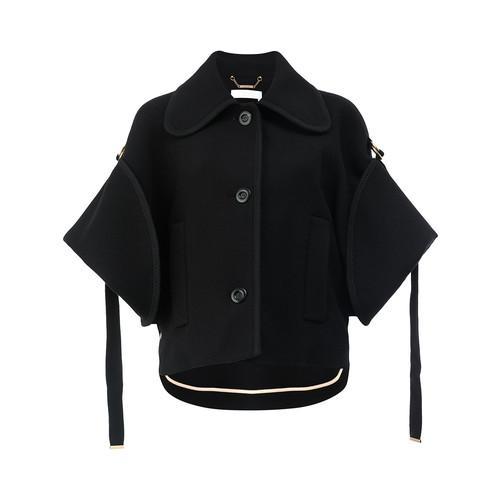 CHLOÉ Cropped Cape Sleeve Jacket