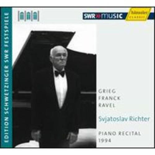 Sviatoslav Richter: Piano Recital, 1994 By Sviatoslav Richter (Audio CD)