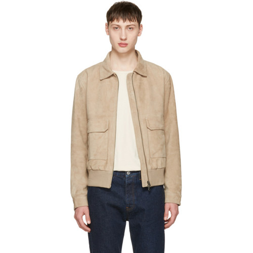 Taupe Suede Chaz 5 Jacket