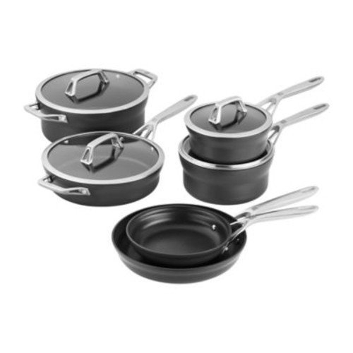 Zwilling J.A. Henckels Motion Nonstick Hard Anodized 10-Piece Cookware Set