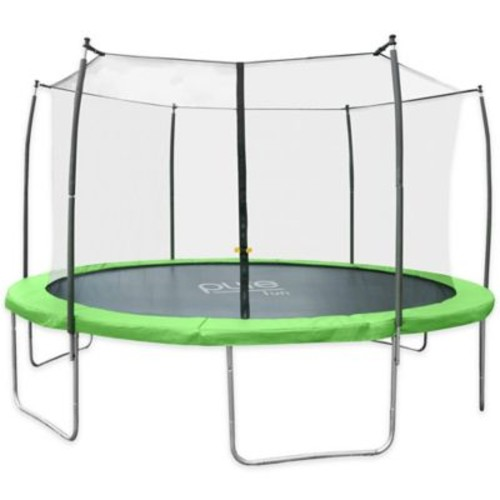 Pure Fun Dura-Bounce 15-Feet Trampoline with Enclosure in Green