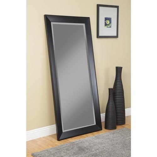 Sandberg Furniture Mid-Century Modern Black Full-length Leaner Mirror