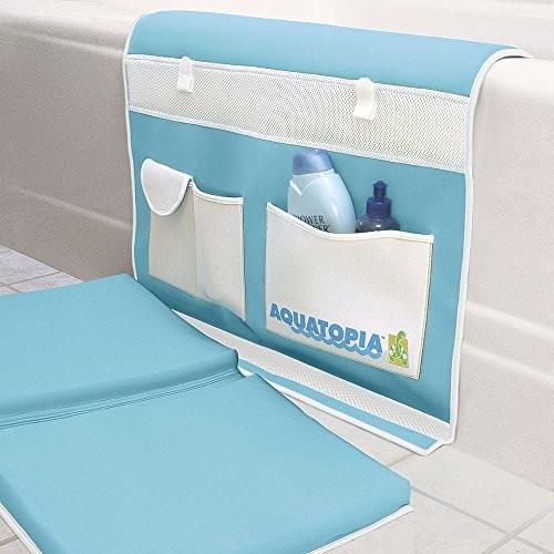 Aquatopia Deluxe Safety Easy Memory Foam Bath Kneeler, Blue