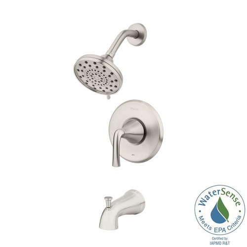 Pfister Ladera Single-Handle 3-Spray Tub and Shower Faucet in Spot Defense Brushed Nickel (Valve Included)