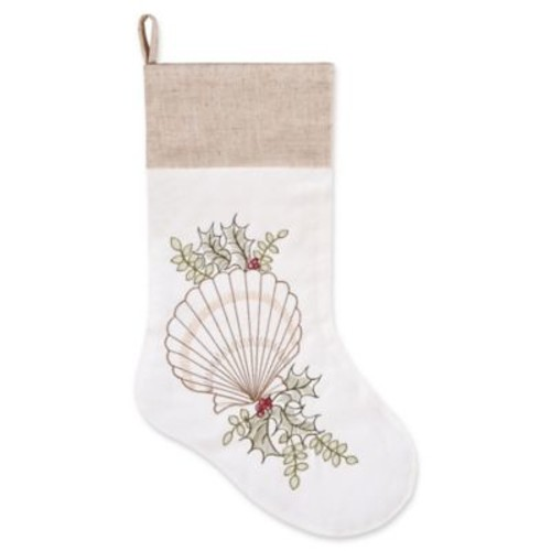 C&F Home Oysters With Holly Stocking in White