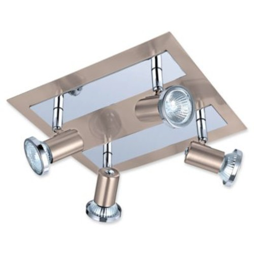 EGLO USA Rottelo 4-Light Track Light in Matte Nickel/Chrome