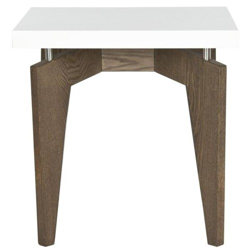 Safavieh Josef White and Dark Brown End Table