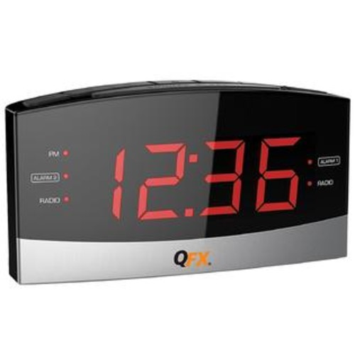 Quantum FX AM_FM LED Dual Alarm Clock Radio