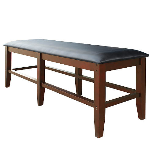 Hathaway Unity Spectator Storage Bench - Antique Walnut Finish