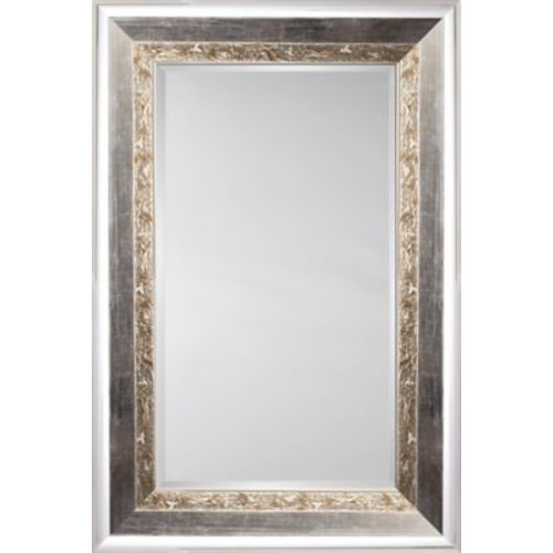 Mirror Image Home Mirror Style 81114 - Polished Silver w/ Maze Detail; 48 x 68