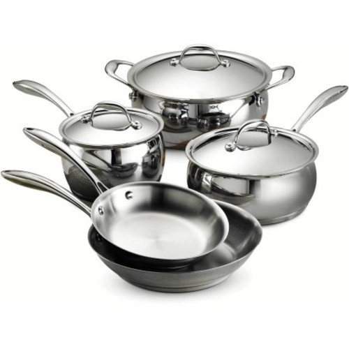 Tramontina Gourmet Domus 18/10 Stainless Steel Tri-Ply Base 8-Piece Cookware Set