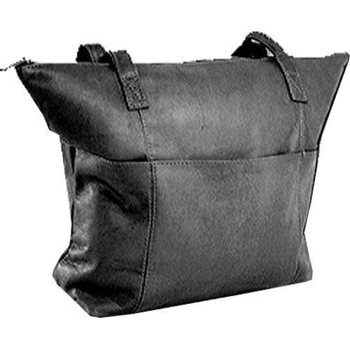Women's David King Leather 543 Shopping Bag Black - One Size
