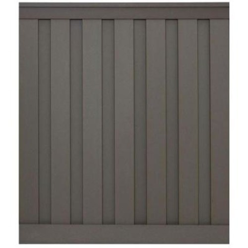 Trex Seclusions 6 ft. x 6 ft. Winchester Grey Wood-Plastic Composite Board-On-Board Privacy Fence Panel Kit