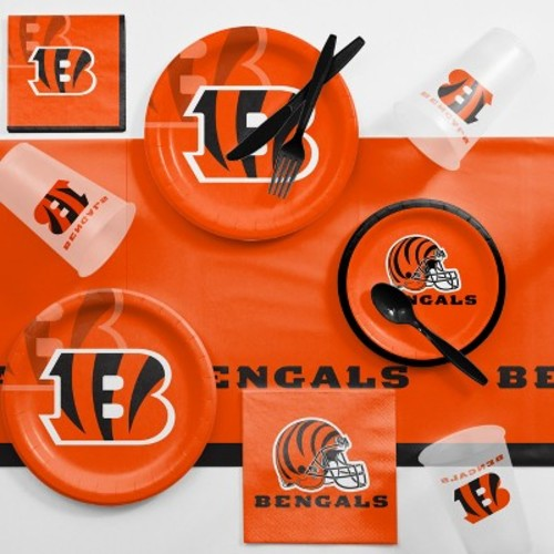 NFL Orange And Black Cincinnati Bengals Game Day Party Supplies Kit