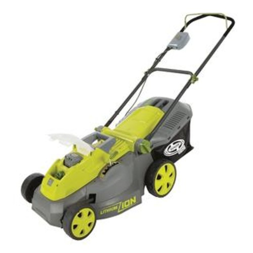 Sun Joe iON16LM - iON 40-Volt Cordless 16-Inch Lawn Mower with Brushless Motor in Green - Large