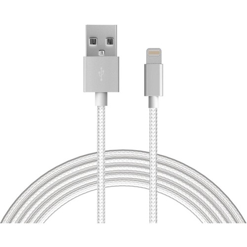 Just Wireless - 6' Lightning USB Cable - Silver