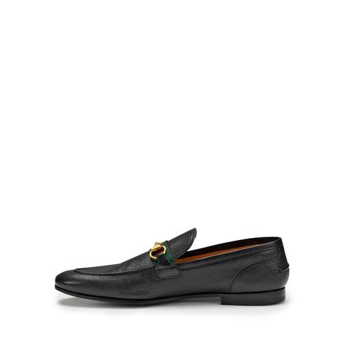 GUCCI Elanor Leather Horsebit Loafer, Black