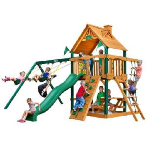 Gorilla Playsets Chateau with Timber Shield Cedar Playset