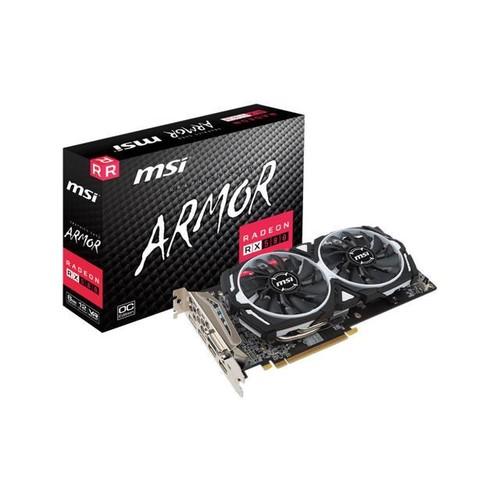 MSI ARMOR RX 580 ARMOR 8G OC Radeon RX580 Graphic Card - 1.37 GHz Boost Clock