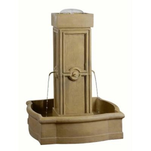 Kenroy Home Quatrafoil Resin Outdoor Floor Fountain