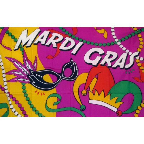 Mardi Gras Party Traditional Flag