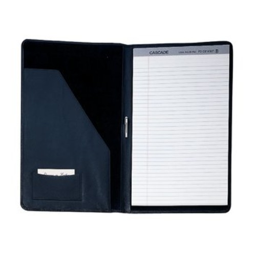 Royce Leather Ultra-Bonded Leather Legal Size Pad Holder in Black