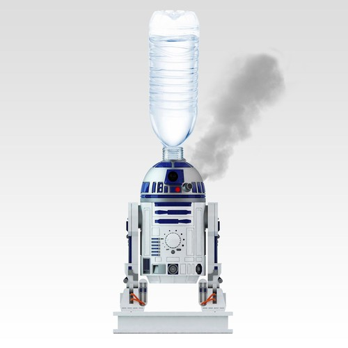 Star Wars 9706 R2D2 Personal Humidifier Ultrasonic Cool Mist Humidifier