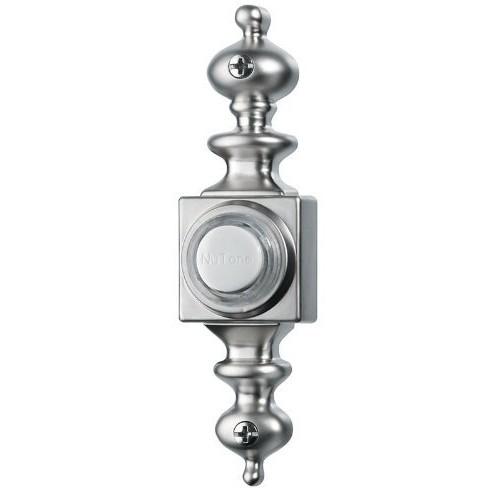 NuTone PB4LSN Wired Lighted Door Chime Push Button, Satin Nickel [Satin Nickel]