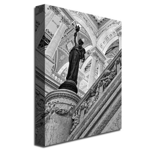 Library of Congress- Great Hall by Gregory O'Hanlon, 18x24-Inch Canvas Wall Art