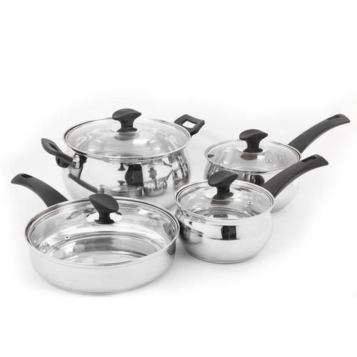 Oster Ingleton Stainless Steel 8 Piece Kitchen Pan Set