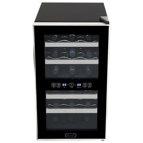 Whynter - 18-Bottle Wine Cooler - Black/Stainless-Steel