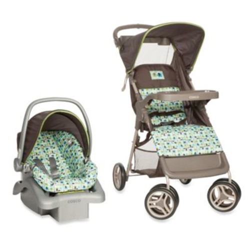 Cosco Life & Stroll Travel System in Elephant Squares
