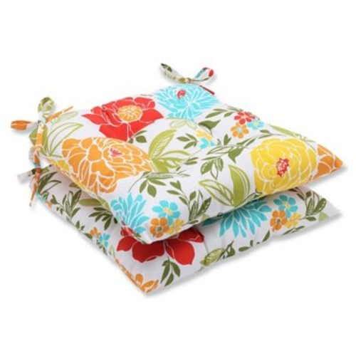 Pillow Perfect Spring Bling Outdoor Dining Chair Cushion (Set of 2)