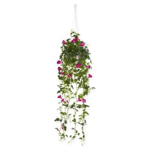 Nearly Natural Petunia Artificial Plant with Hanging Basket