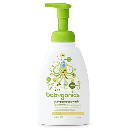 Babyganics 16 oz. Foaming Shampoo + Body Wash in Chamomile and Verbena