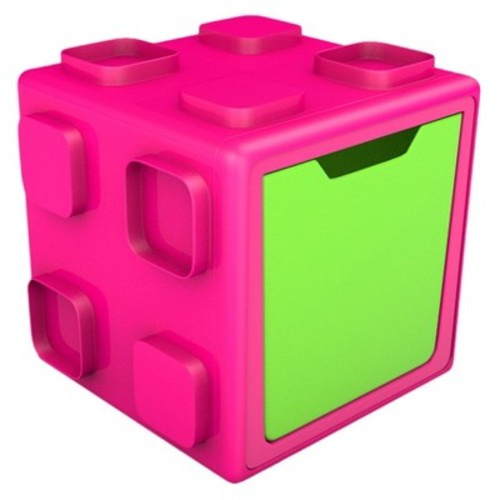 Chillafish Modular Toy Storage Box - Pink and Lime