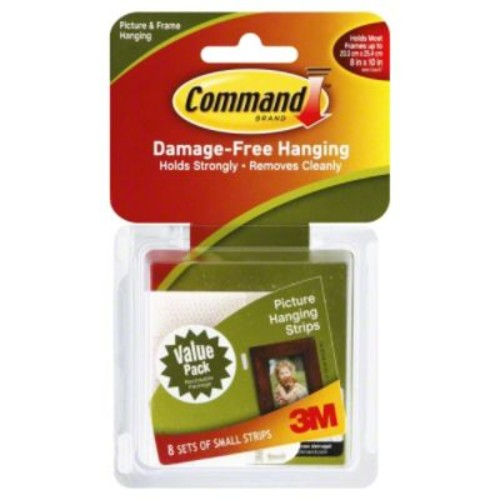 Command Picture Hanging Strips Small 8 sets/pack