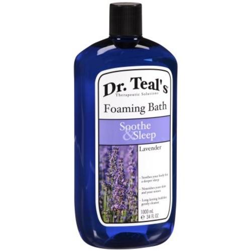 Dr Teals Foaming Bath with Pure Epsom Salt, Soothe & Sleep with Lavender, 34 Ounces [Soothe Sleep Lavender]