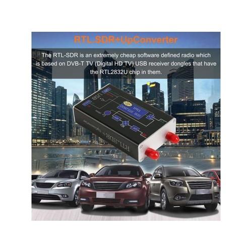 100KHz-1.7GHz Full Band RTL.SDR + UpConverter Wide SDR Receiver DBM HF UHF VHF Radio Ham Software Defined Radio Black