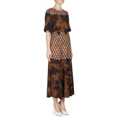 DRIES VAN NOTEN Paneled Patterned Dress