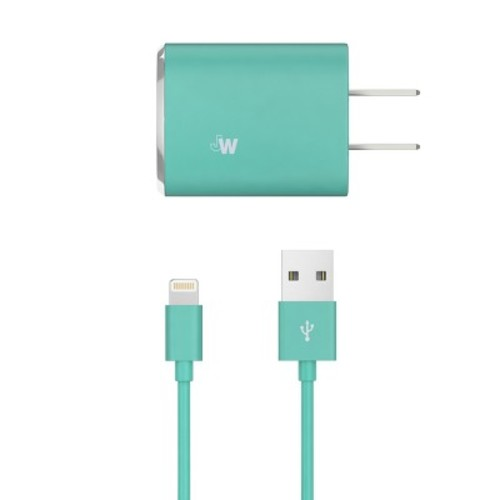 Lightning USB Home Charger 8 Pin Teal - Just Wireless