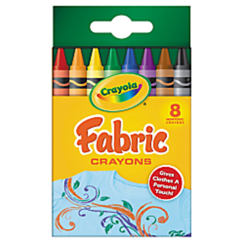 Crayola Fabric Crayons Set, Box Of 8