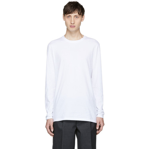 HELMUT LANG White Long Sleeve Standard Fit T-Shirt