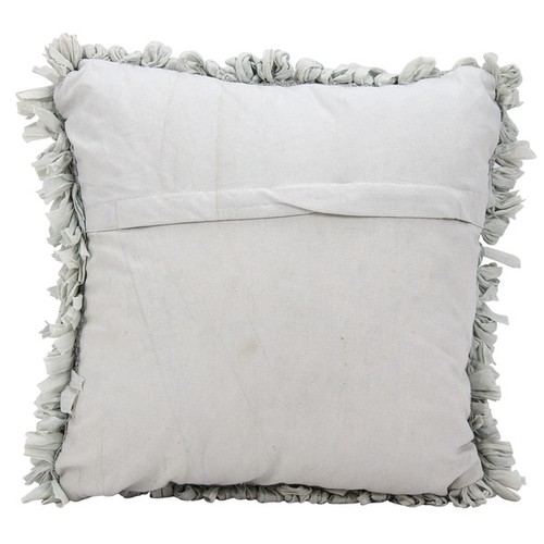 Mina Victory Shag Loop Silver Throw Pillow (20-inch x 20-inch) by Nourison