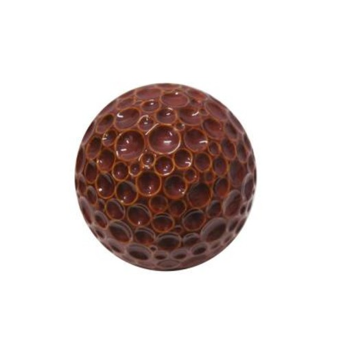 Alpine 10 in. Red Ceramic Gazing Globe