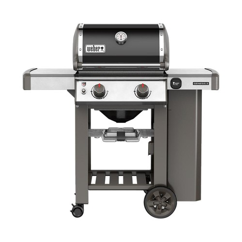 Weber Genesis II E-210 2-Burner Propane Gas Grill in Black with Built-In Thermometer